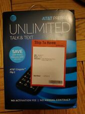 New Alcatel Cingular Flip 2 Ot-4044O At&T 4G lte WiFi Basic Cell Phone