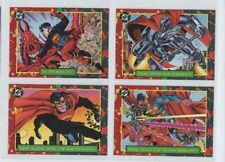 """1993 SKYBOX """"DC BLOODLINES"""" FULL 4 x PROMO TRADING CARD SET - V/GOOD CONDITION"""