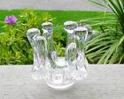 Randsfjord Glassverk Norway Clear Art Glass Votive Candle Tea Light Holder w/Tag