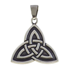 CELTIC TRIQUETRA Genuine Sterling Silver .925 Trinity Knot PENDANT Charm Jewelry