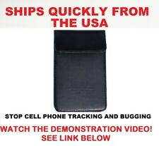 Extra Large Phone Pouch Blocks RF Signals Stops Cell Phone Tracking and Bugging