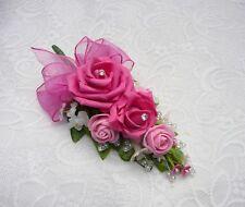 Wedding flower buttonhole Hot pink & pink rose......PIN ON