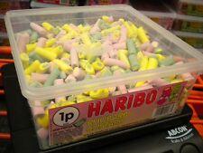 HARIBO 600 RHUBARB & CUSTARD 1500g TUB UK SWEETS PARTY HALLOWEEN BIRTHDAY ETC