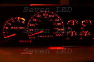 LED KIT for SIERRA Silverado Tahoe Yukon Suburban GM 1995-1999 CHEVY CLUSTER RED