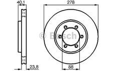BOSCH Juego de 2 discos freno 278mm ventilado SSANGYONG REXTON 0 986 478 967