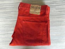 Men's Hollister Skinny Fitting Red Jeans W32 L34