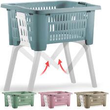 Cesta para ropa capacidad de 38L de Plástico 2 asas patas plegables lavandería