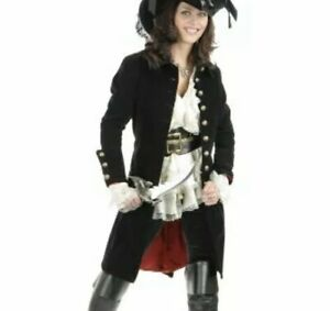 Charades Women's Sexy Pirate Vixen Jacket Costume Black Size Medium
