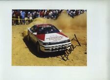 Bjorn Waldegaard Toyota Celica Acropolis Rally 1988 Signed Photograph
