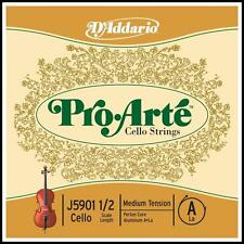 D'Addario Pro-Arte Cello Single A String 1/2  Scale Medium Tension