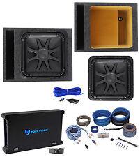 "Kicker L7S154 15"" Solobaric L7S Car Subwoofer+Vented Box+Mono Amplifier+Amp Kit"
