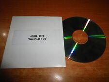 AFRO-DITE Never let it go EUROVISION SUECIA 2002 CD SINGLE PROMO TEST PRESING