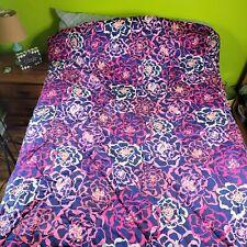 Vera Bradley Katalina Pink Sateen Comforter Full/Queen Bedding