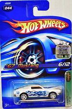 HOT WHEELS 2006 TREASURE HUNT '67 MUSTANG #044 WHITE FACTORY SEALED