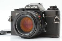 【EXC+5】Minolta XD Black SLR 35mm Film Camera w/ New MD 50mm f/1.4 JAPAN #150