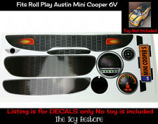 The Toy Restore Replacement Decals fits Rollplay Mini Cooper 6V Full Set Kit