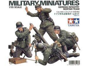 Tamiya 35193 German Infantry Mortar Team 1/35 Scale Plastic Model Kit