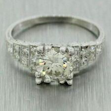 EGL Antique Art Deco Platinum 1.35ctw Diamond Engagement Ring