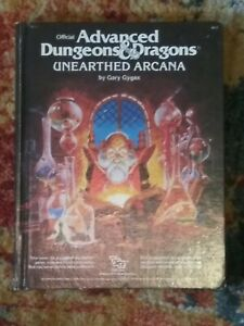 TSR Dungeons & Dragons Unearthed Arcana 1st Edition