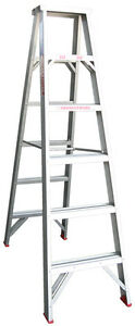 INDALEX Tradesman Aluminium Double Sided Step Ladder 6ft 1.8m