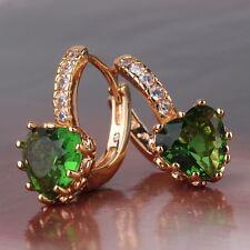 Bling bling design 18k gold filled emerald Attractive  leverback earring