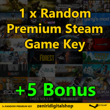 1 x Random Premium Steam Game Key + 5 BONUS KEY ✅ REGION FREE