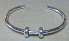 Authentic Sterling Silver.TROLLBEADS XS BANGLE WITH TWO STOPPERS. New