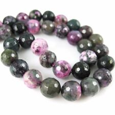 Purple and Green Agate Beads - Faceted Round Gem Beads 10mm (Sold Per Strand)