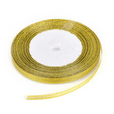 25yards/rool Silk Satin Ribbon Gold/sliver Wrapping Christmas Decorative 6mm YA Gold