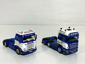 "Scania 3 steamline+Scania R5 Highline ""Van den Broeck"" WSI truck models 02-1512"