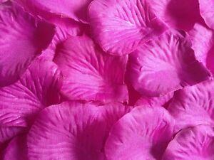 100 x PURPLE SILK ROSE PETALS WEDDING CONFETTI TABLE DECORATION UK SELLER