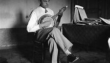 Musicien Joueur Banjo Guitare c. 1930 - Grand Négatif - FD 264