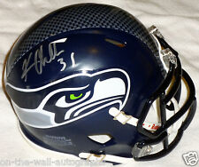 SEATTLE SEAHAWKS KAM CHANCELLOR HAND SIGNED AUTOGRAPHED HELMET! EXACT PROOF+COA!