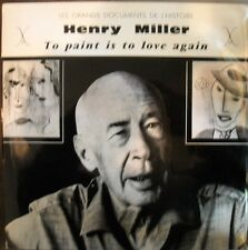LP HENRY MILLER--TO PAINT IS TO LOVE AGAIN --- VERY RARE FRENCH DOUBLE LP
