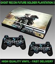 PLAY STATION 3 console AUTOCOLLANT GHOST RECON FUTURE SOLDIER Skin & 2 Pad