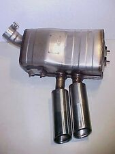 Maserati Spyder Exhaust Muffler 184816 With Tips and Clamp LEFT REAR OEM