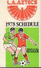 1978 LA Aztecs Soccer Schedule 101617jh