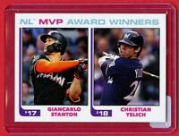 2018 Topps TBT 243 Giancarlo Stanton Yelich MVP Award 1982 Design from Set 40 SP