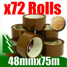 72 x Rolls Brown Packing Packaging Tape 48mm x 75m