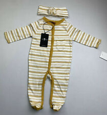 New 7 For All Mankind Baby Girls Infant Long Sleeve One Piece 0-3 Months