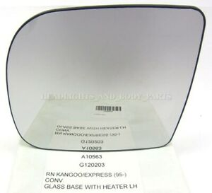 NEW!For Renault Kangoo 97- Door Mirror Glass Side View Back Plate Heated Left LH