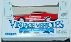 ERTL VINTAGE VEHICHLES 1968 SHELBY GT 500 1:43 SCALE