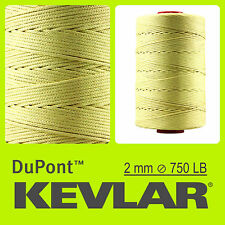 KEVLAR DuPont RAW YELLOW 750LB 2.0mm 100FT 30M LINE BRAIDED WIRE KITE FISHING