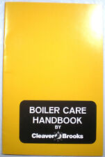 Cleaver Brooks AQUA-CHEM Boiler Maintenance Manual Asbestos History 1980's