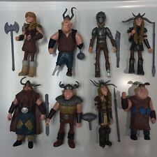 8Pcs How to Train Your Dragon Hiccup Astrid Stoick Action Figures Toys US STOCK