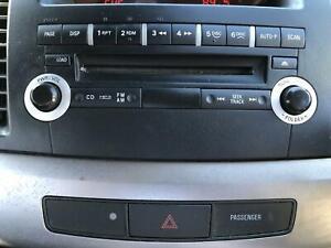 STEREO, RADIO, HEAD UNIT MITSUBISHI LANCER HEAD UNIT ONLY, 6 DISC CD STACKER, CJ