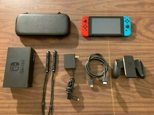 Nintendo Switch Console (Neon Joy-Cons)  +  Carry Case