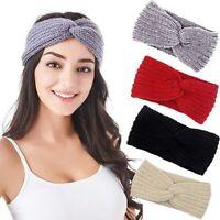 Ladies Twist Knit Headband Head Wrap Warmer Hairband Band Womens Winter Warm