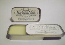 Lavender Solid Perfume, All-natural Aroma-on-the-go with Essential Oil, 1/4 oz