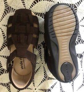 Stride Rite Brown Nubuck NEW Closed Toe Sandals Little  Boys Size 6 1/2  M